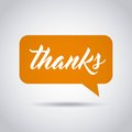 Gratitude message label icon