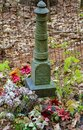 Grave Marker in an Old Forgotten Cemetery Royalty Free Stock Photo