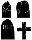 Grave set Royalty Free Stock Photos
