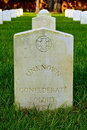 Grave of Unknown Confederate Soldier Royalty Free Stock Photo