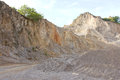 Gravel and crushed stone for the construction in open pit.