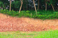 Gravel deposits cut away through forests Royalty Free Stock Photo