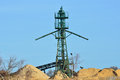 Gravel extraction tower with sand Stock Photos