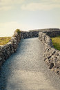 Gravel path in burren in ireland Royalty Free Stock Photos