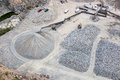 Gravel pit aerial view of a in phoenix arizona Royalty Free Stock Images