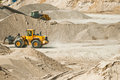 Gravel pit - mining industry Stock Photo