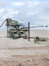 Gravel pit old machine in the Stock Photos
