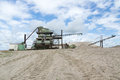 Gravel pit old machine in the Royalty Free Stock Photo
