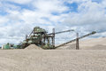 Gravel pit old machine in the Royalty Free Stock Photos