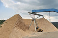 Gravel plant in Thuringia Stock Photography