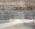 Gravel quarry sunny scenery at a in southern germany Stock Photo