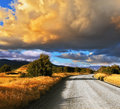 Gravel road in Argentina Royalty Free Stock Photo