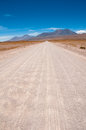 Gravel road in Atacama desert, Chile Stock Image