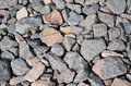 Gravel on the road detail Royalty Free Stock Photography