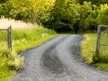 Gravel road to nowhere Royalty Free Stock Photo