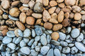 Gravel stone white and brown close up pathway in the park Royalty Free Stock Photos