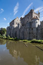 Gravensteen castle in gent the is a medieval ghent originating from the middle ages Stock Photography