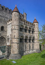 Gravensteen castle in Ghent, Belgium Royalty Free Stock Photo