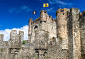 Gravensteen Castle and Lieve River, Gent Royalty Free Stock Photo