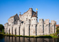 The gravensteen in ghent belgium Royalty Free Stock Images