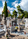 Graves at carcassone graveyard in france Royalty Free Stock Photos