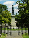 The gravesite of stonewall jackson lexington va – august thomas jonathan in memorial cemetery august in Stock Image