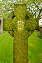 A gravestone bearing an ihs christogram monogram nd july not to be confused with dollar sign st wilfrid s church kirkby in Royalty Free Stock Photography