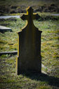 Gravestone in a hungarian cemetery Stock Photos
