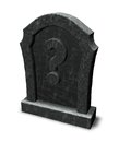 Gravestone with question mark Stock Photography