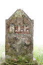 Gravestone, RIP - Rest in Peace. Fade to white foggy background. Royalty Free Stock Photo
