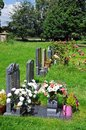 Gravestones weobley modern in st peter and st paul churchyard herefordshire england uk western europe Royalty Free Stock Photo