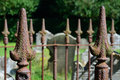 Graveyard Fence with spikes Royalty Free Stock Photo