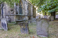 Graveyard at st mary magdelene church oxford england july on july Royalty Free Stock Image