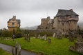 Graveyard by Stokesay castle in Shropshire Royalty Free Stock Photos