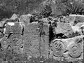 Graveyard uxmal mayan ruins of in yucatan mexico Royalty Free Stock Image