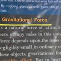 gravitational force geometric words displaying with lights abstract background Royalty Free Stock Photo