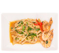 Gravy char kway teow iii a plate of with prawns Stock Photography