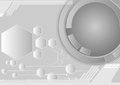 Gray abstract hexagon and circle lines background vector