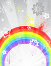 Gray background with a rainbow Stock Image