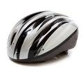 A Gray Bike Helmet On A White ...