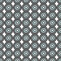 Gray blue circles seamless pattern Stock Photo