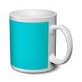 Gray and blue mug realistic 3D mockup