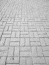Gray brick walkway Royalty Free Stock Photo