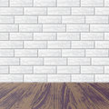 Gray brick wall with laminate floor Royalty Free Stock Photo