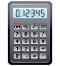 Gray calculator Stock Photos
