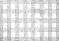 Gray checked fabric tablecloth background Stock Photo