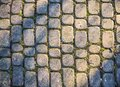 Gray cobbles in the park