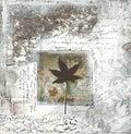 Gray collage artwork