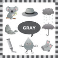Gray color learn the things that are Royalty Free Stock Photos