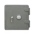 Gray combination safe isolated. Royalty Free Stock Photo